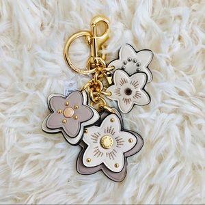 NWT: COACH  Flowers Bag Charm